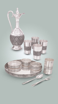 Silver dinner sets & plates