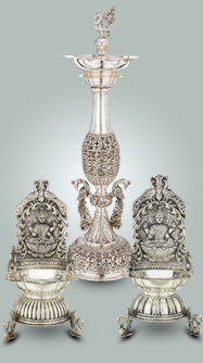Silver lamps