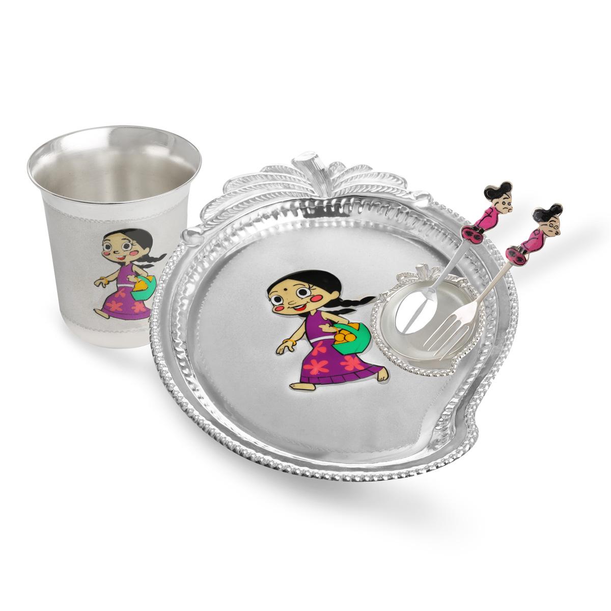 Silver Chutki Dinner Set