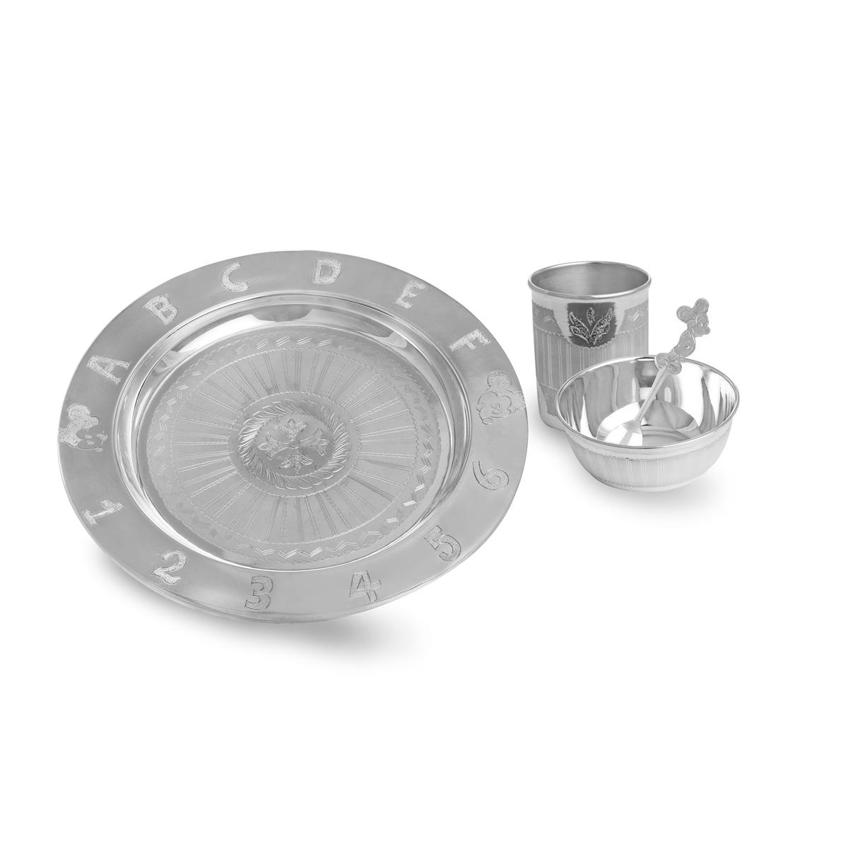 Silver Alphabet Dinner Set