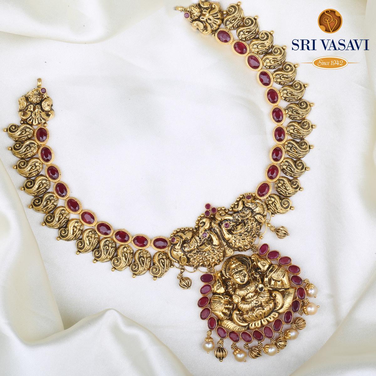 Bhagawati Short Necklace