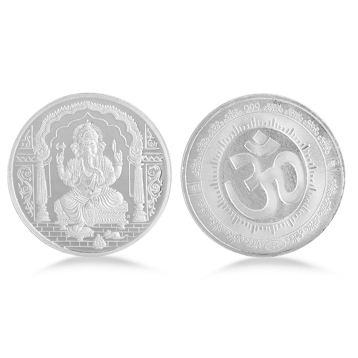 30 Gram Ganesh Silver Coin