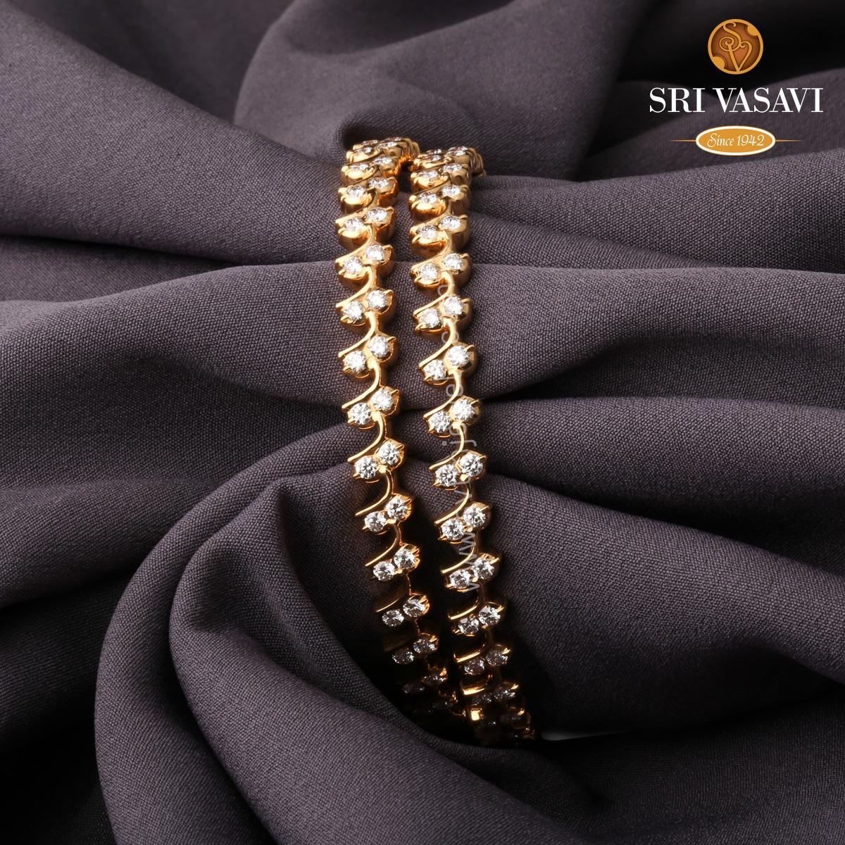 Ravishing Diamond Bangles