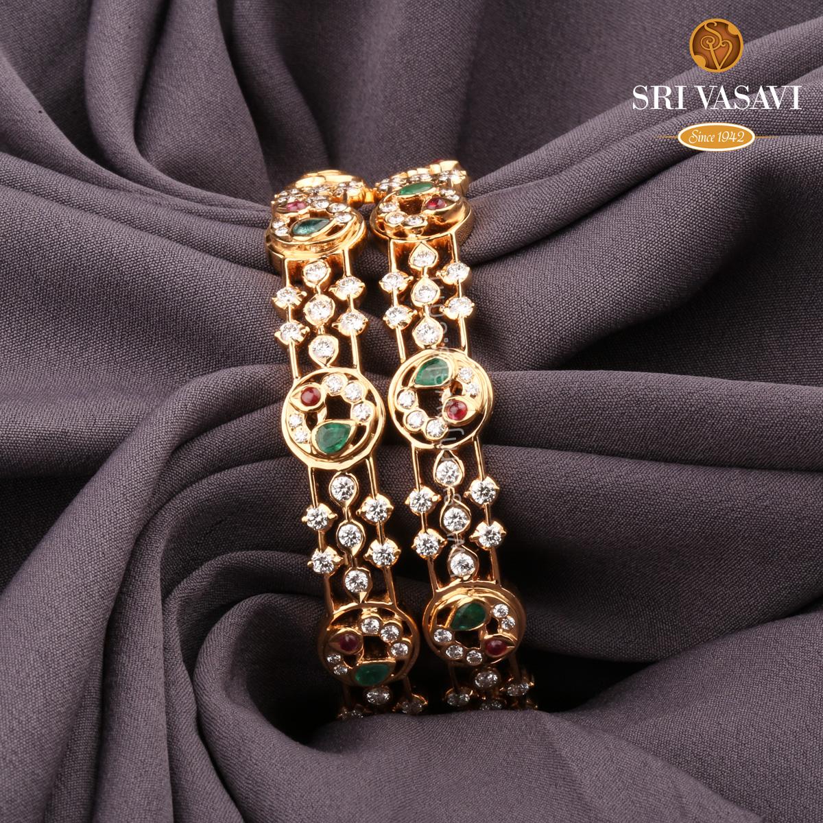 Attractive Diamond bangles