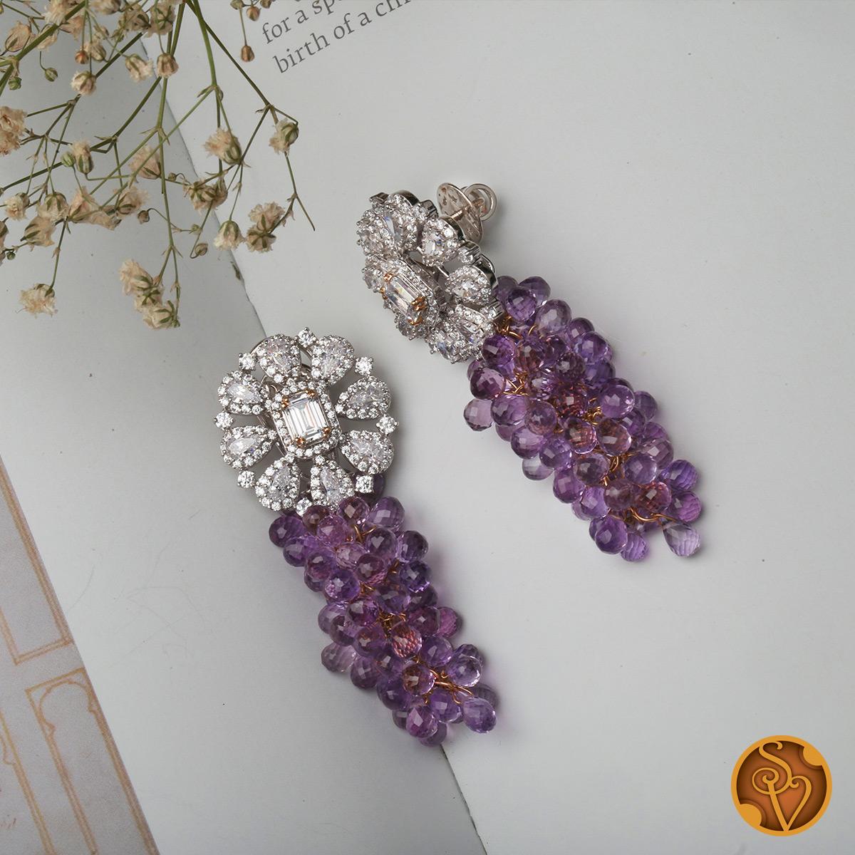Grape Fancy Earrings
