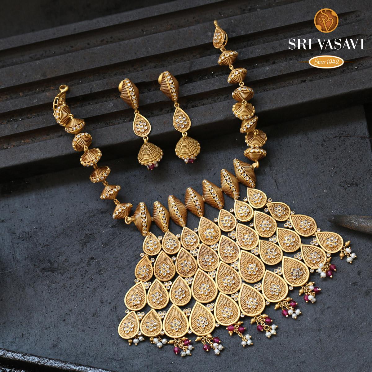 Modern Antique Necklace Set