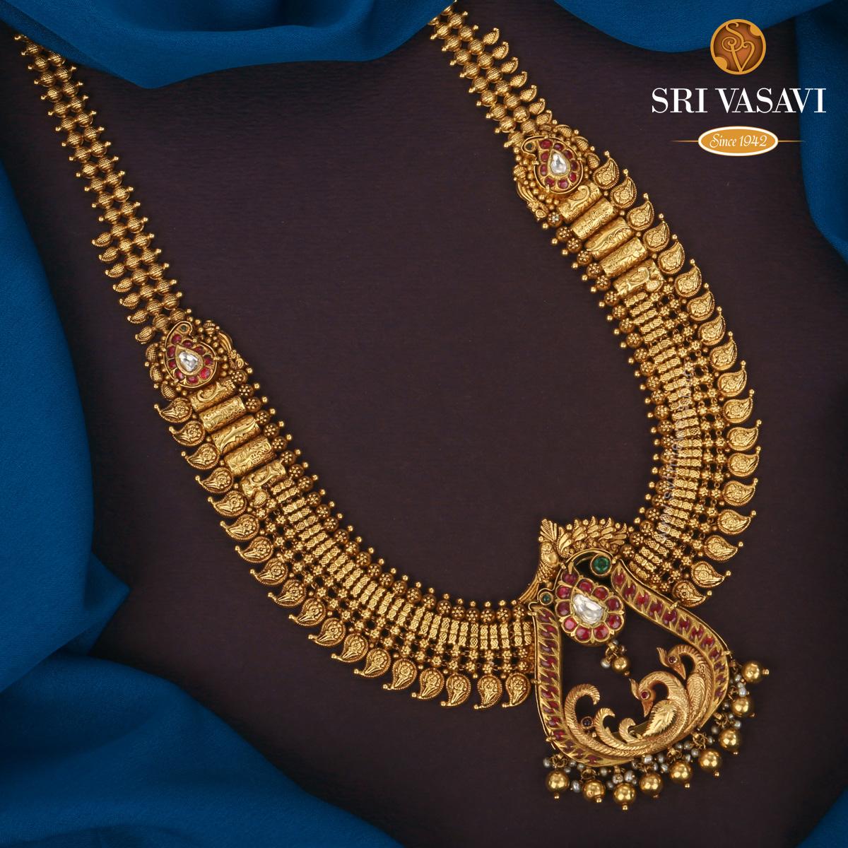 Indian Gold Necklace Online 22k Gold Necklace Set Online 22k Gold Jewelry Online