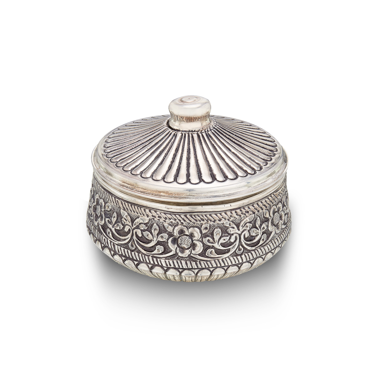 Antique Silver Powder Box