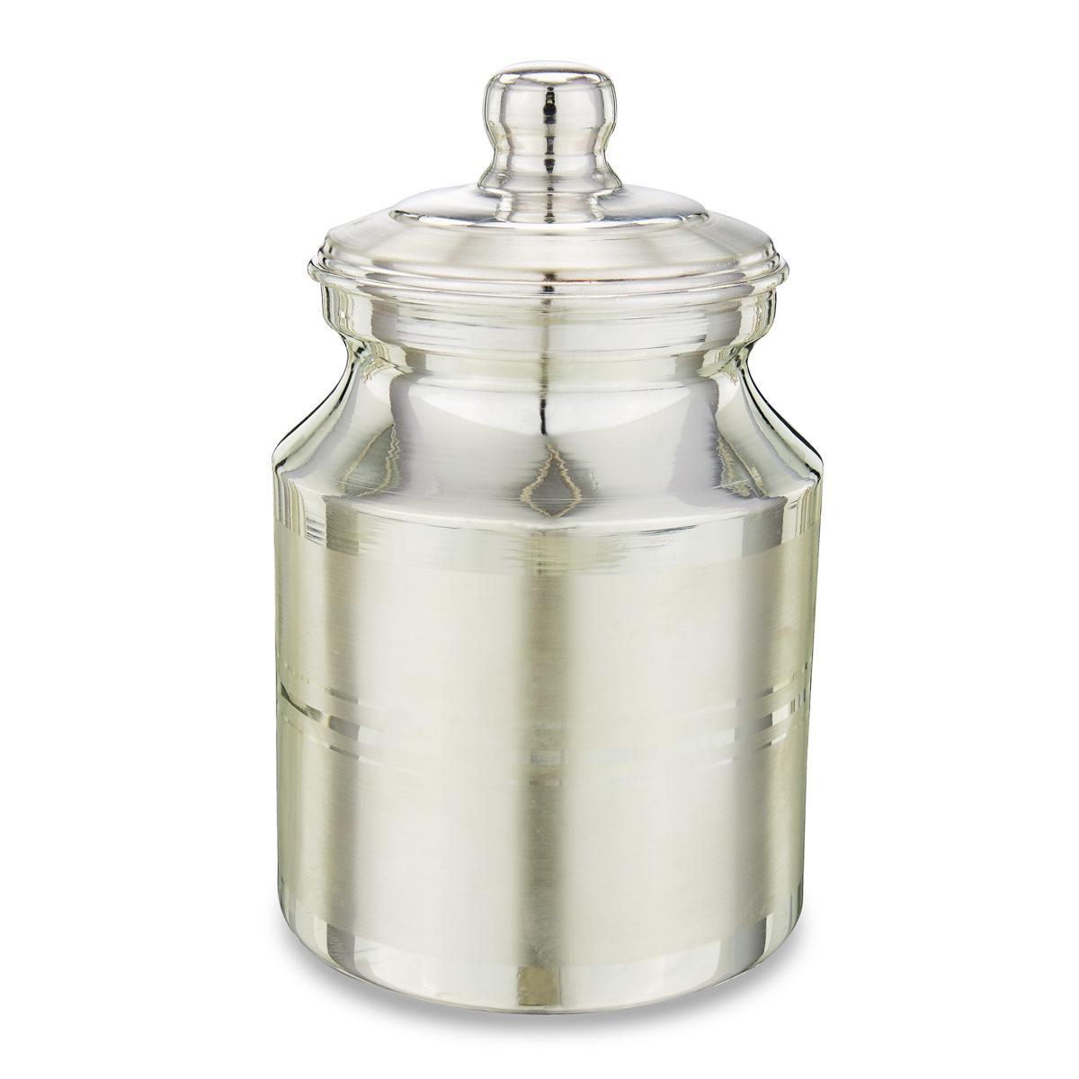 Ghee Jar In Silver