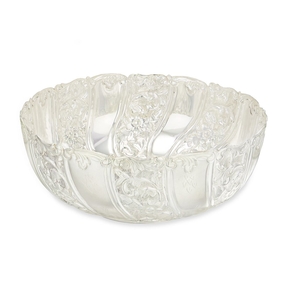Silver Round Fruit Bowl
