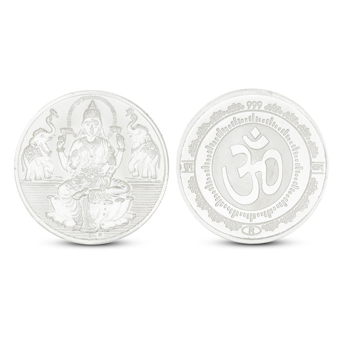 50 Gram Lakshmi Silver Coin
