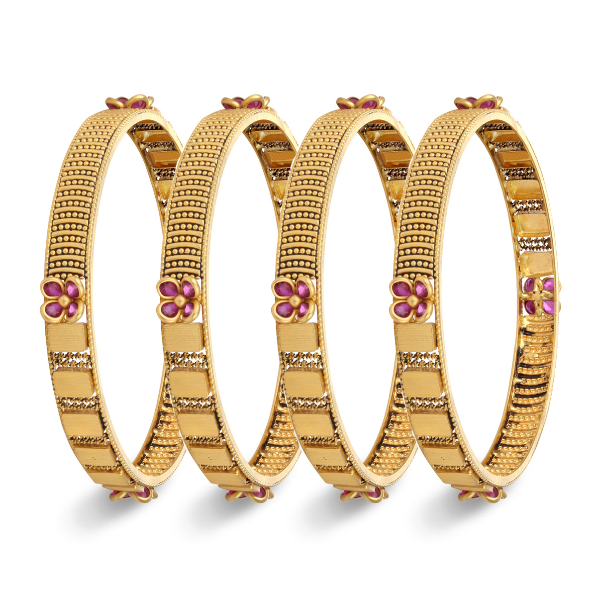Dazzling four Pair Bangles