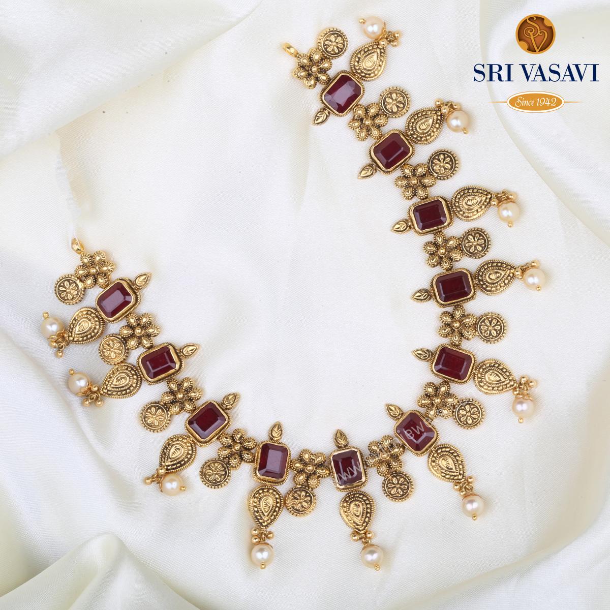 Vani Antique Short Necklace
