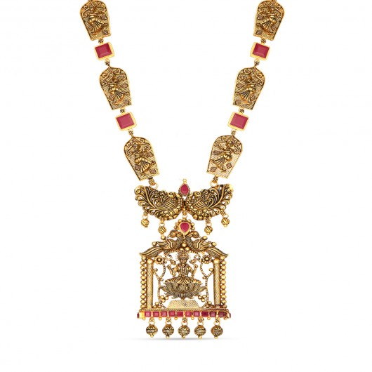 Divine Temple Lakshmi Necklace
