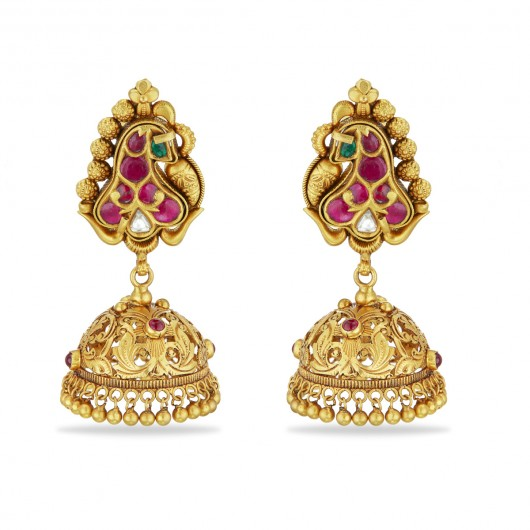 Glorious Peacock Jhumka