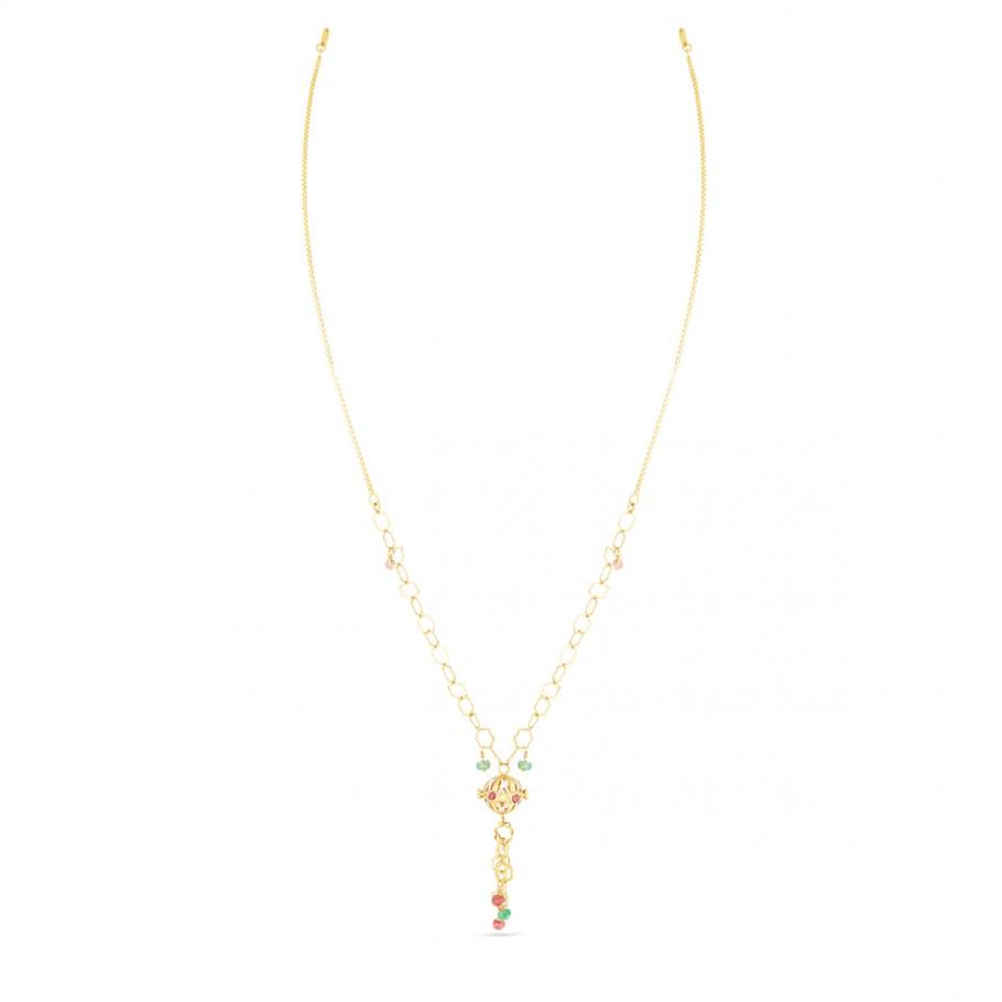 Ruby Emerald Beads Chain