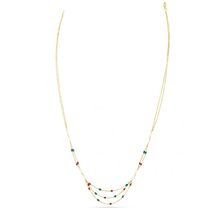 Multi-Hue Pearl Chain