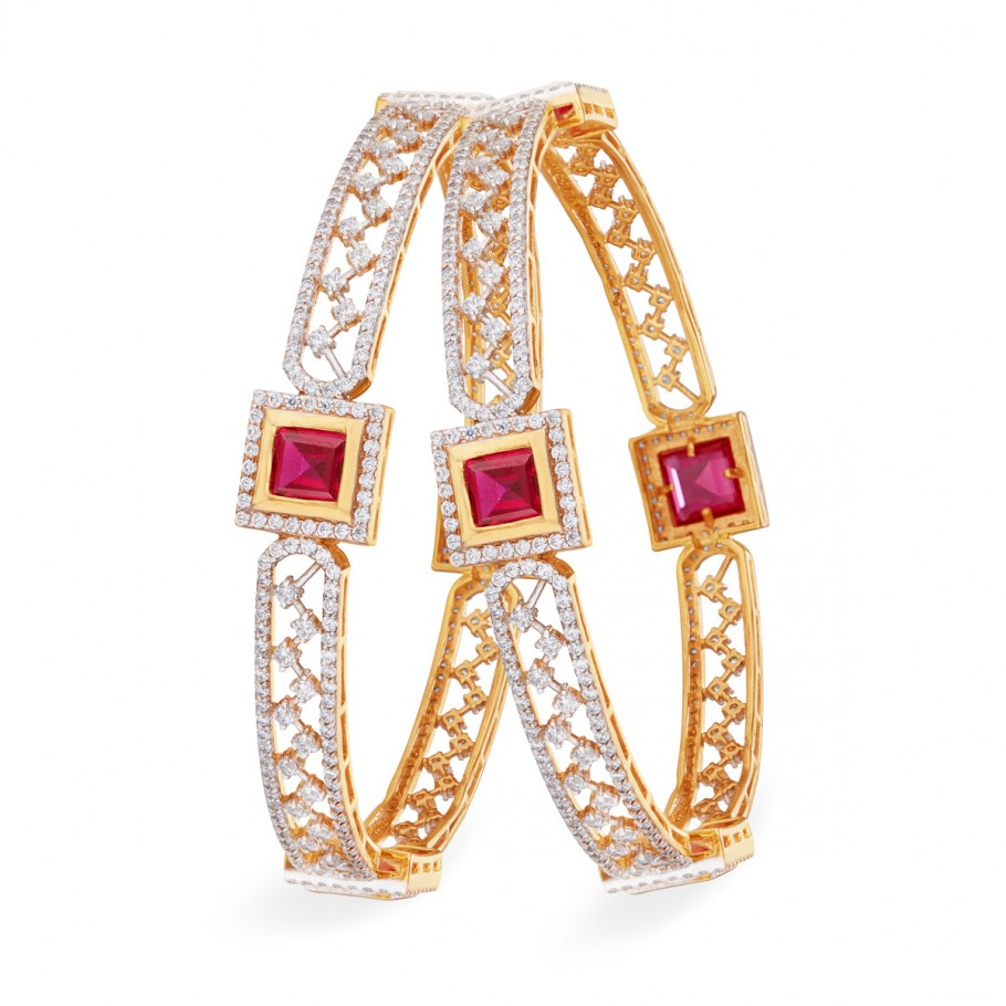 Red Sparkling Bangle