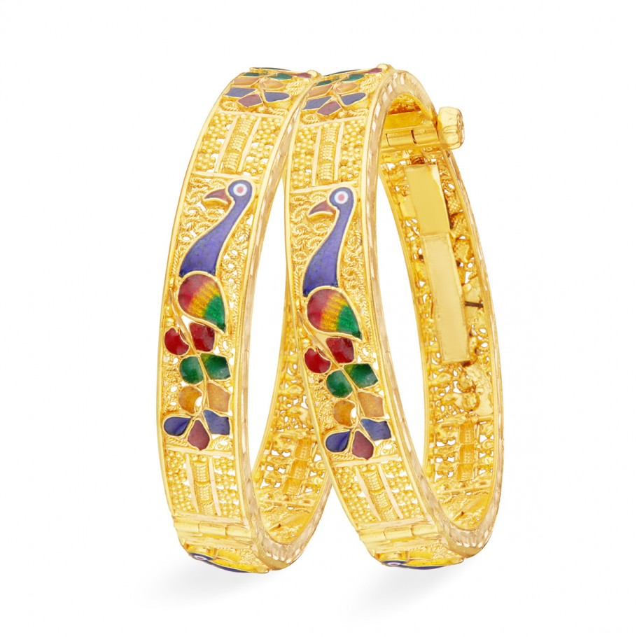 Peafowl Crafted Bangle