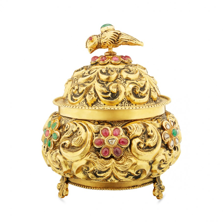 Gem-studded Kumkum Box