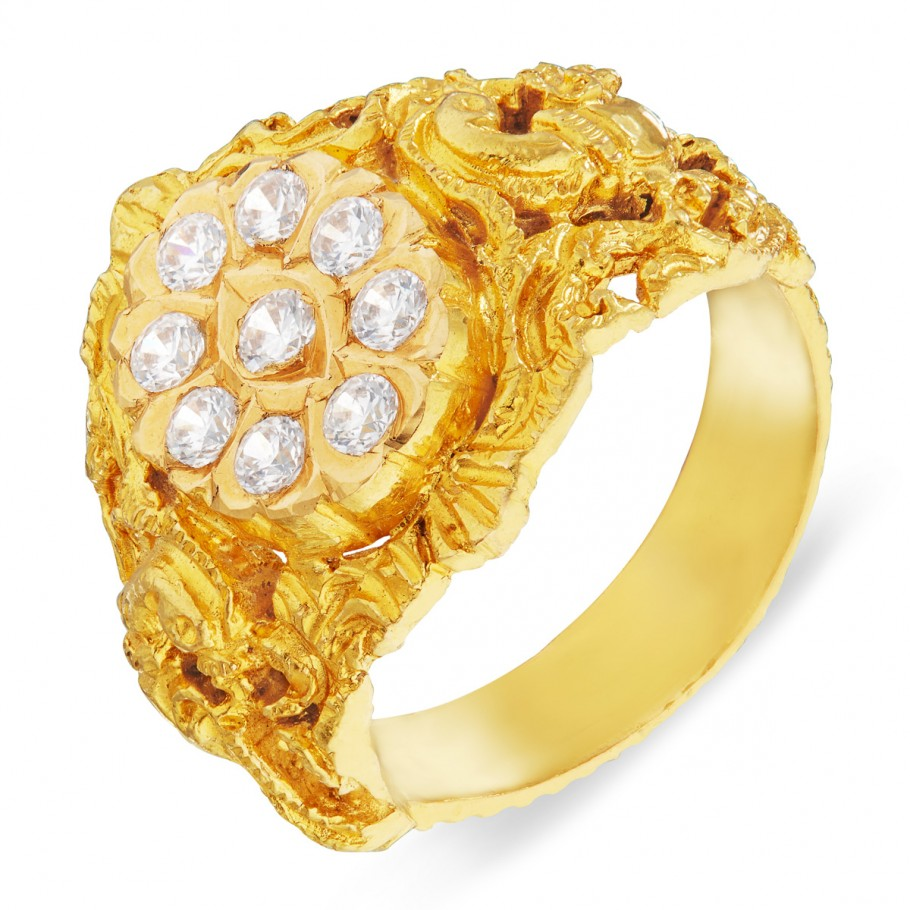 Naga Stone Ring New Gold Ring Online Normal Design Gold Ring