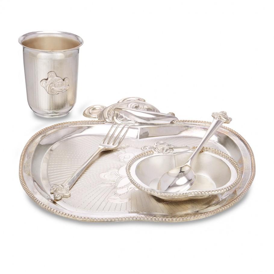 Silver Apple Dinner Set