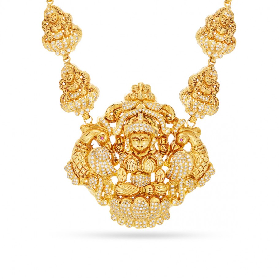 Sacred Diamond Lakshmi Haram