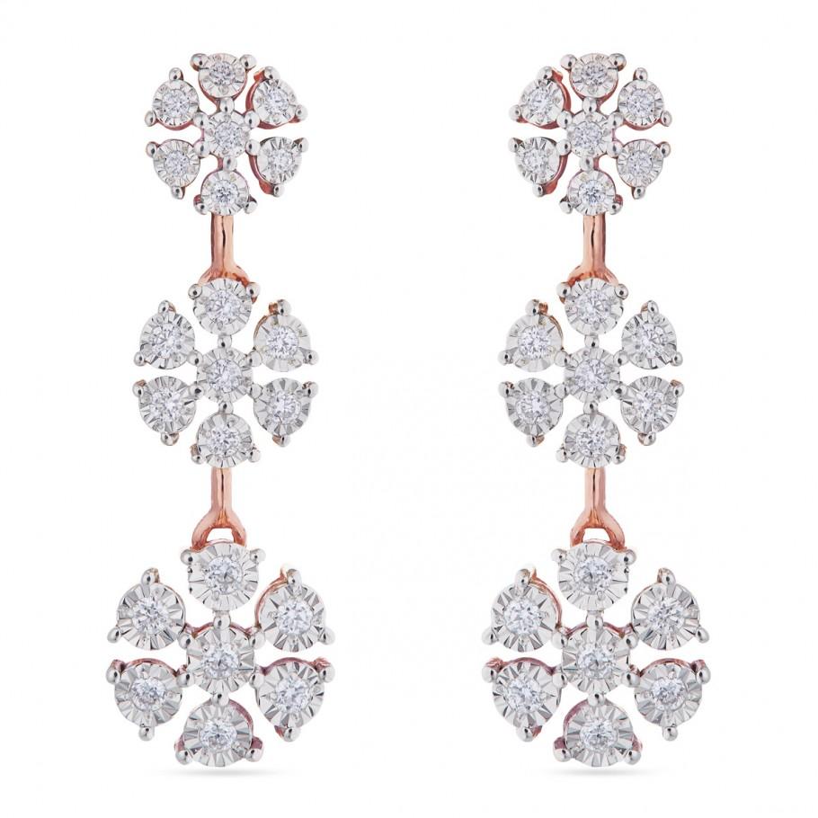 Blossom rose earring