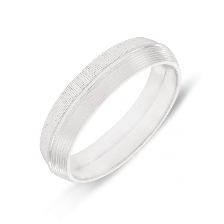 Di-Textured Platinum Ring