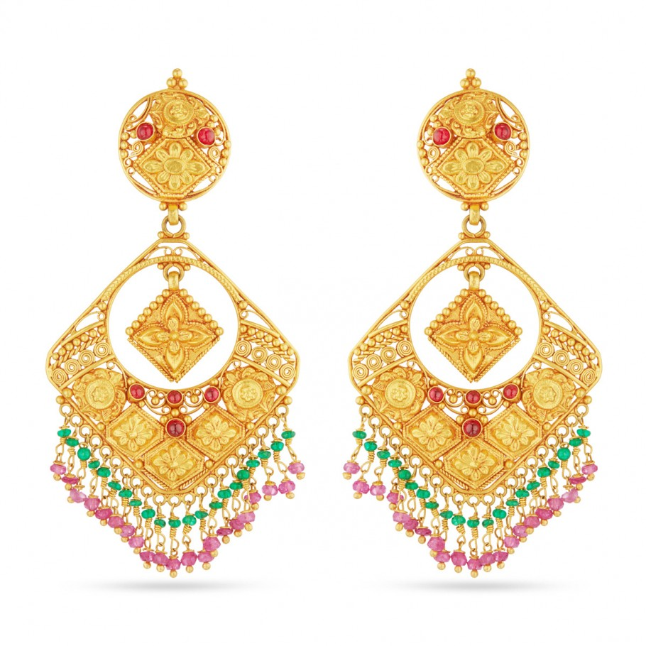 Beaded Filigree Ear-drops