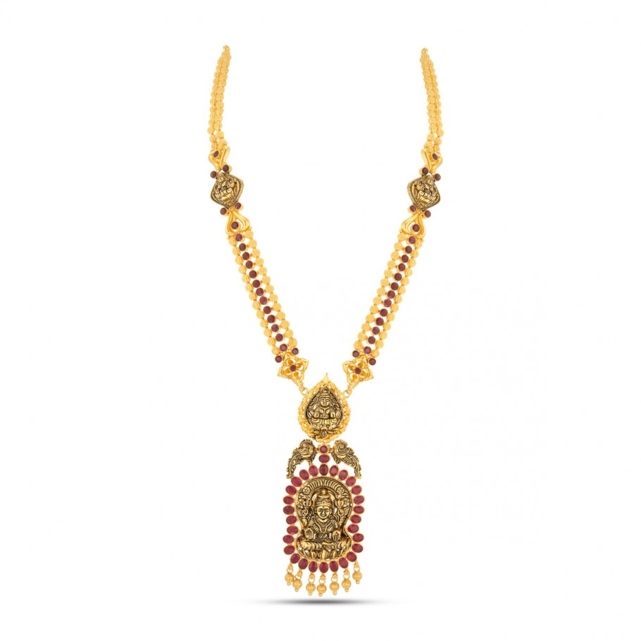 Ruby Studded Long Necklace
