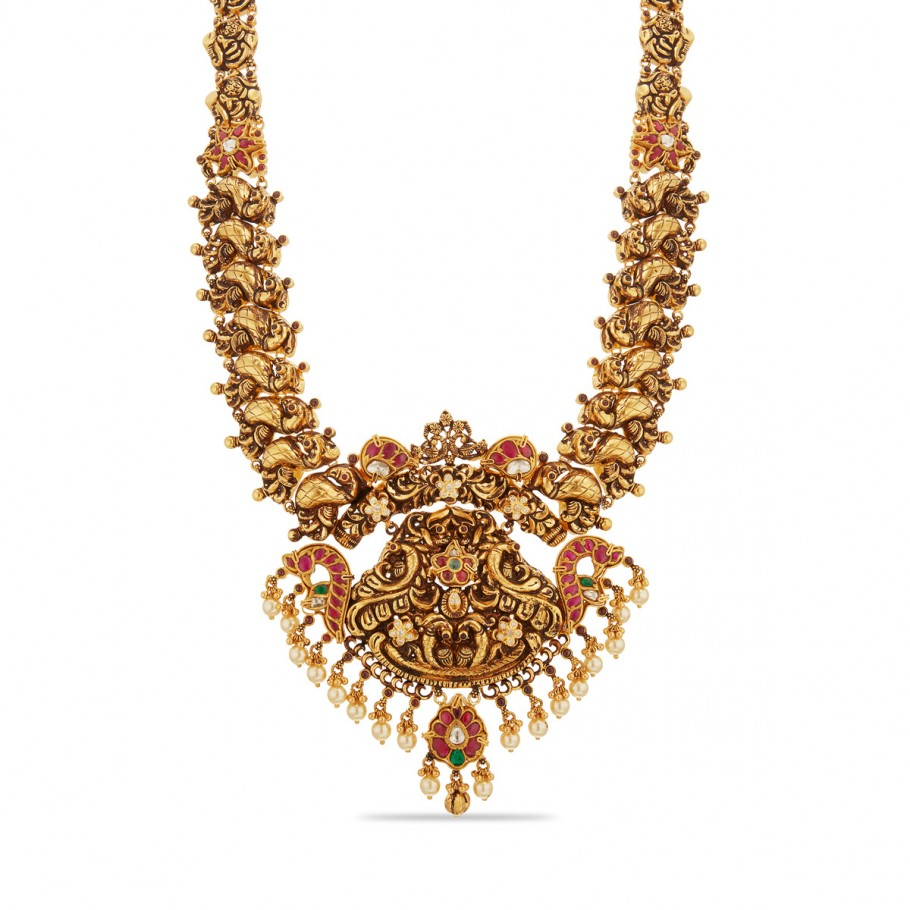 Prettiest Floral Mayur Necklace