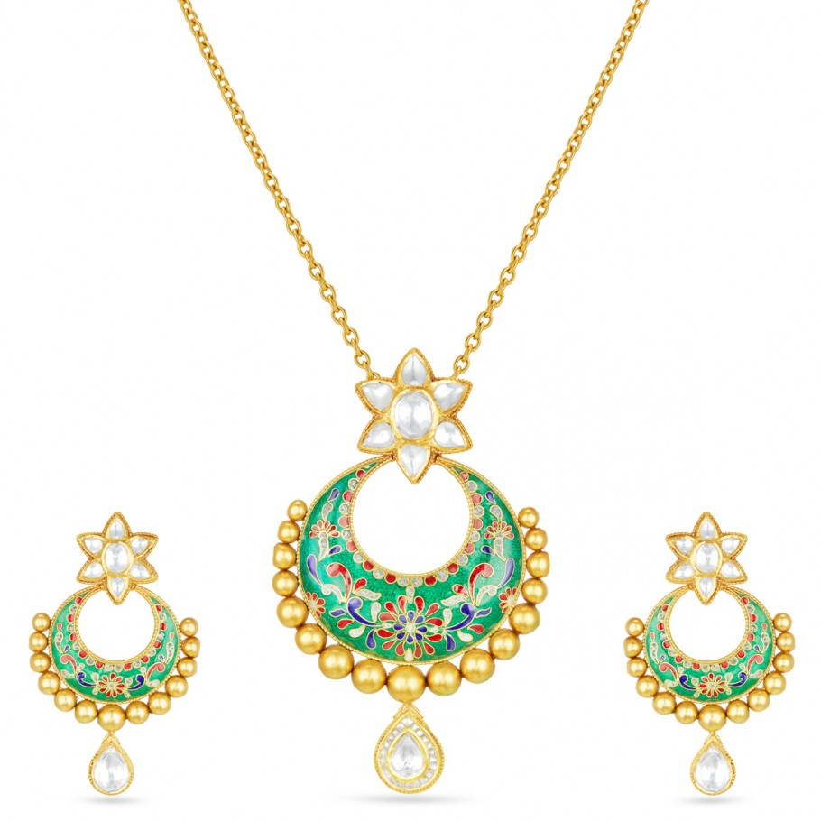 Chandrakala Pendant-Earrings Set