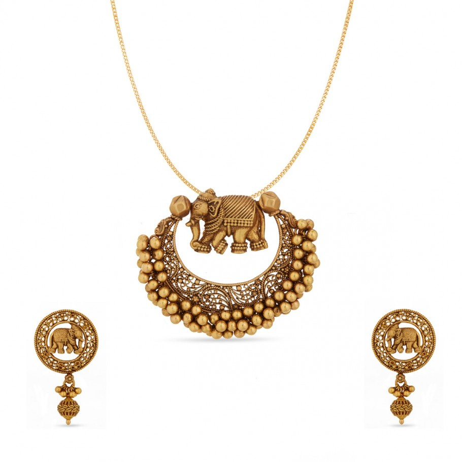 Ishana Elephant Pendant Set