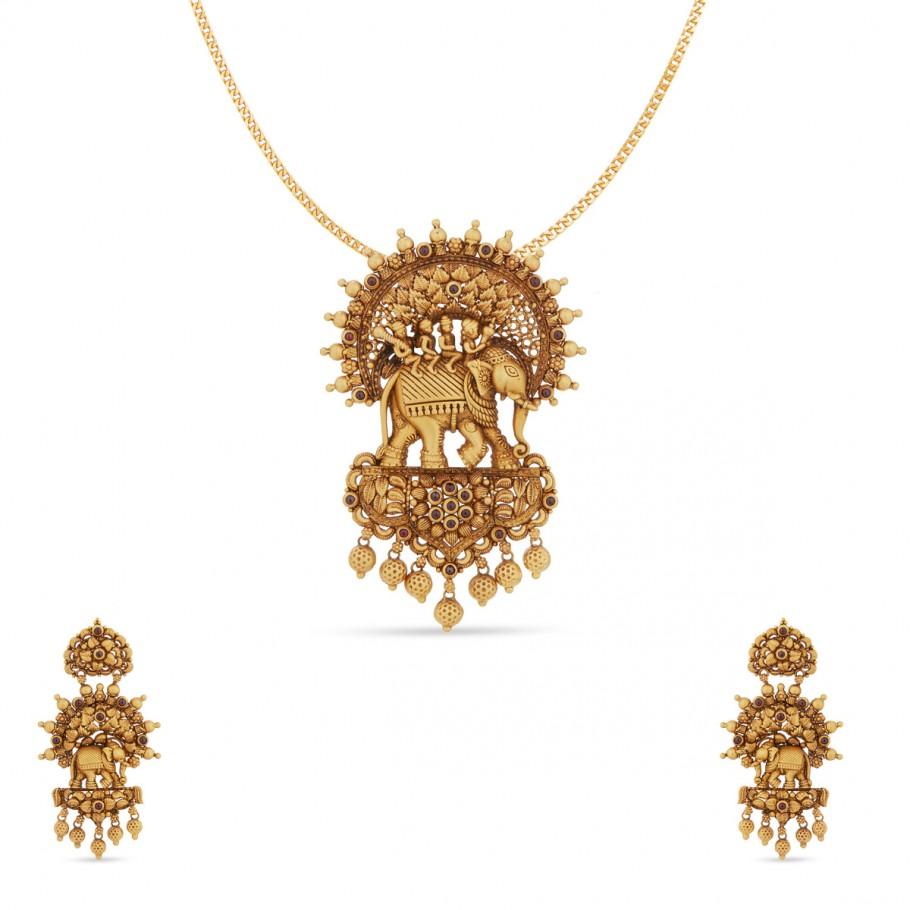 Aaloka aaloka pendant set - pendants - gold