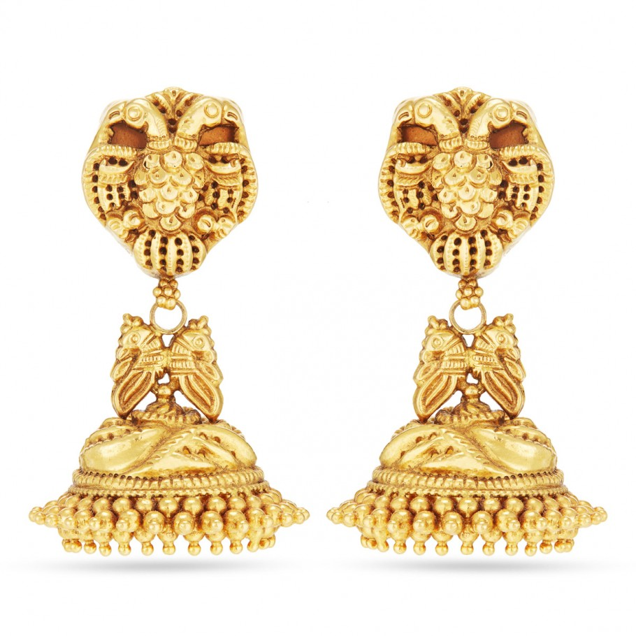 Antique-finish Jhumkis