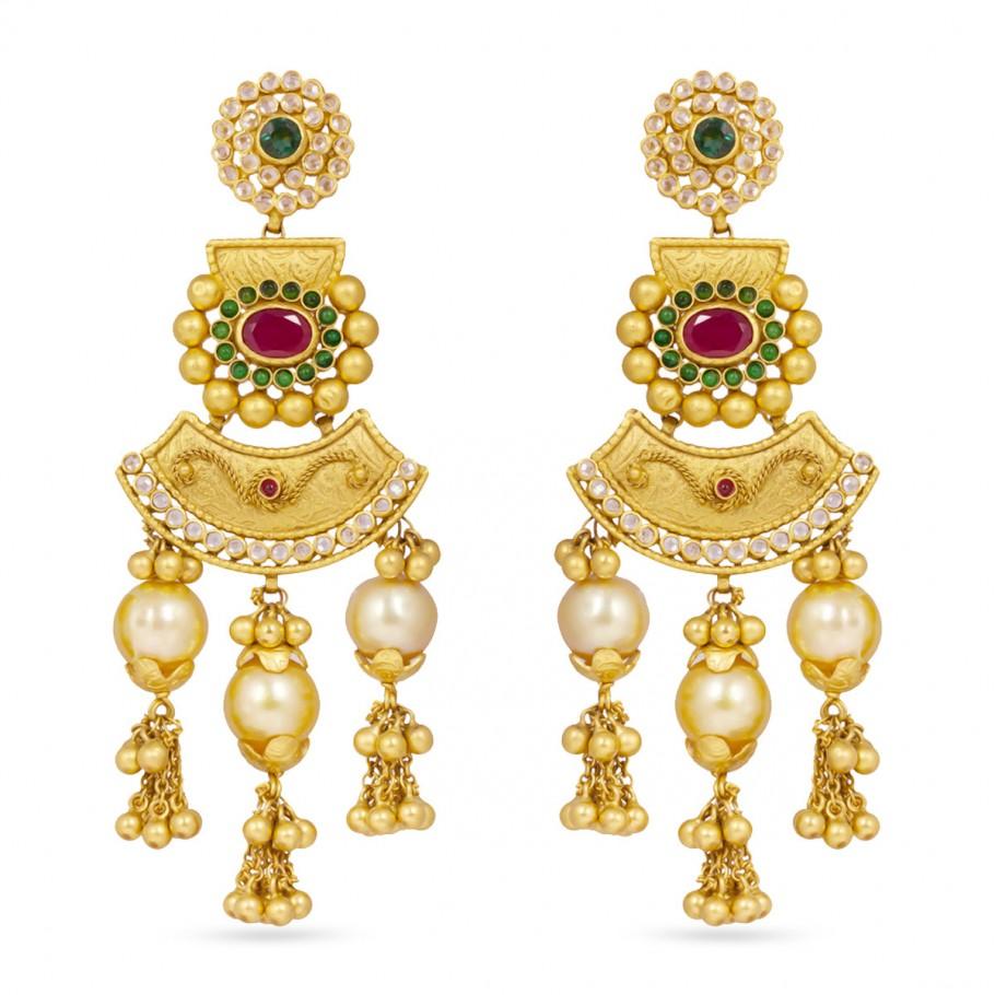 Ethnic Dangling Pearls