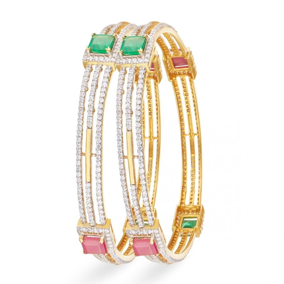 Fancy Zircon Bangles