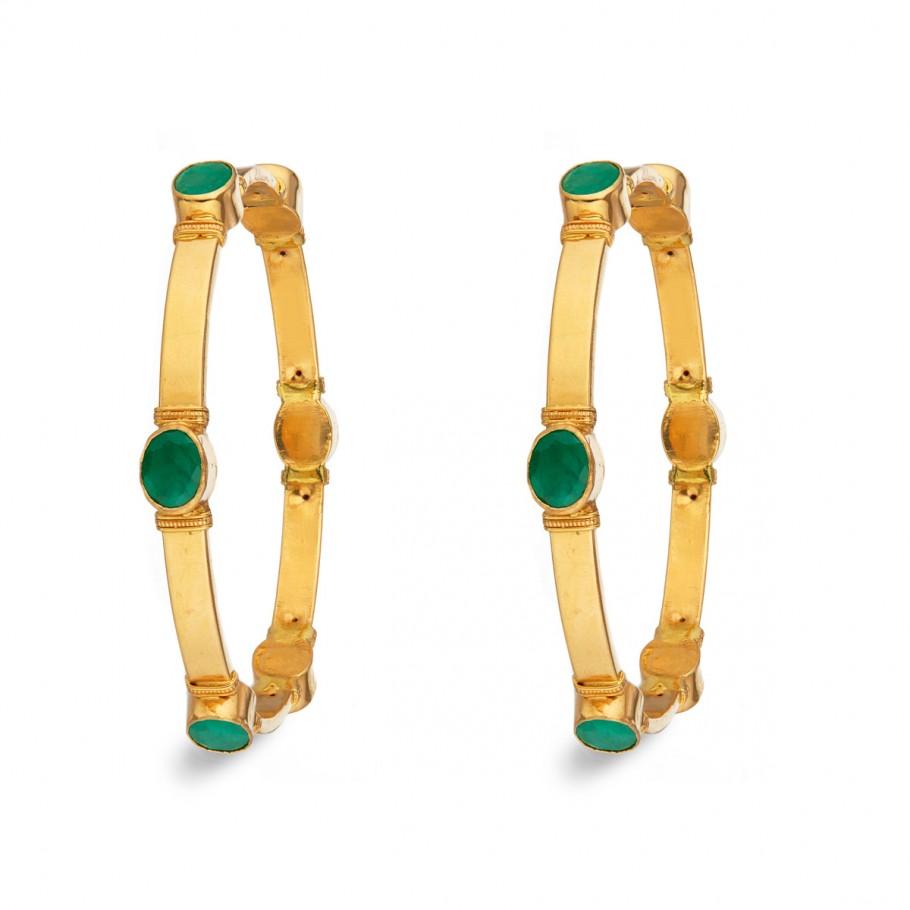 Dazzling Emerald Bangle