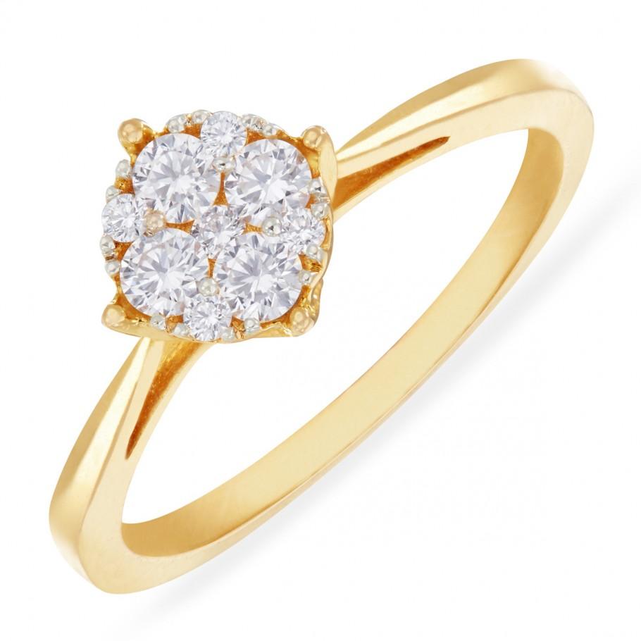 Illusion-set Diamond Ring