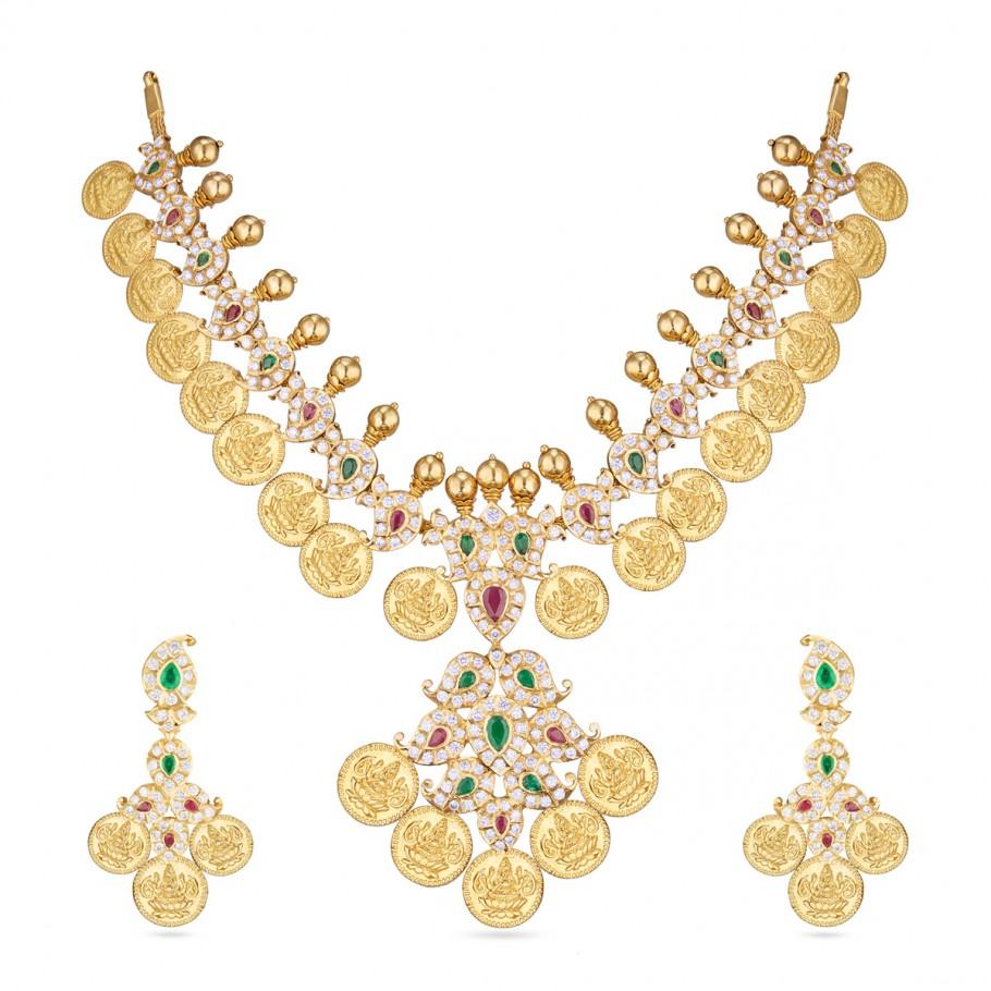 Lakshmi Kaasu Diamond Necklace