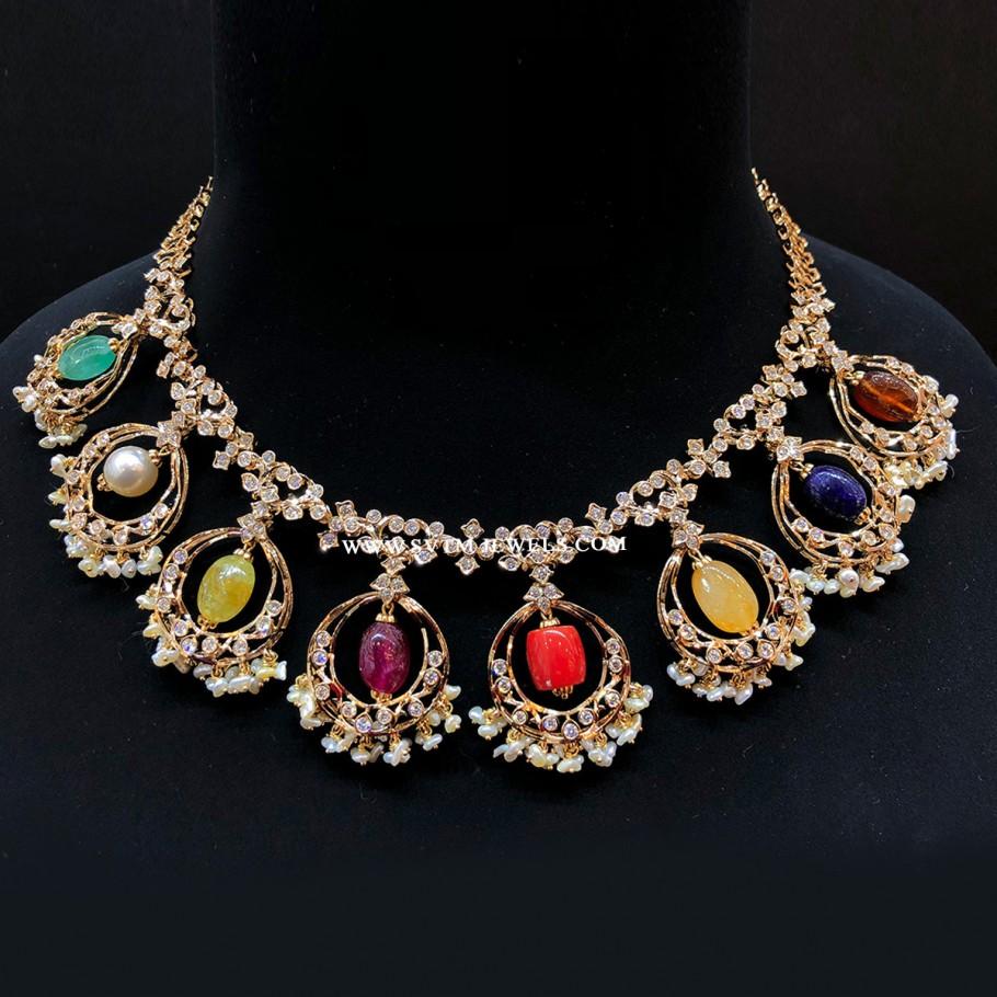 Glaring Navaratna Necklace