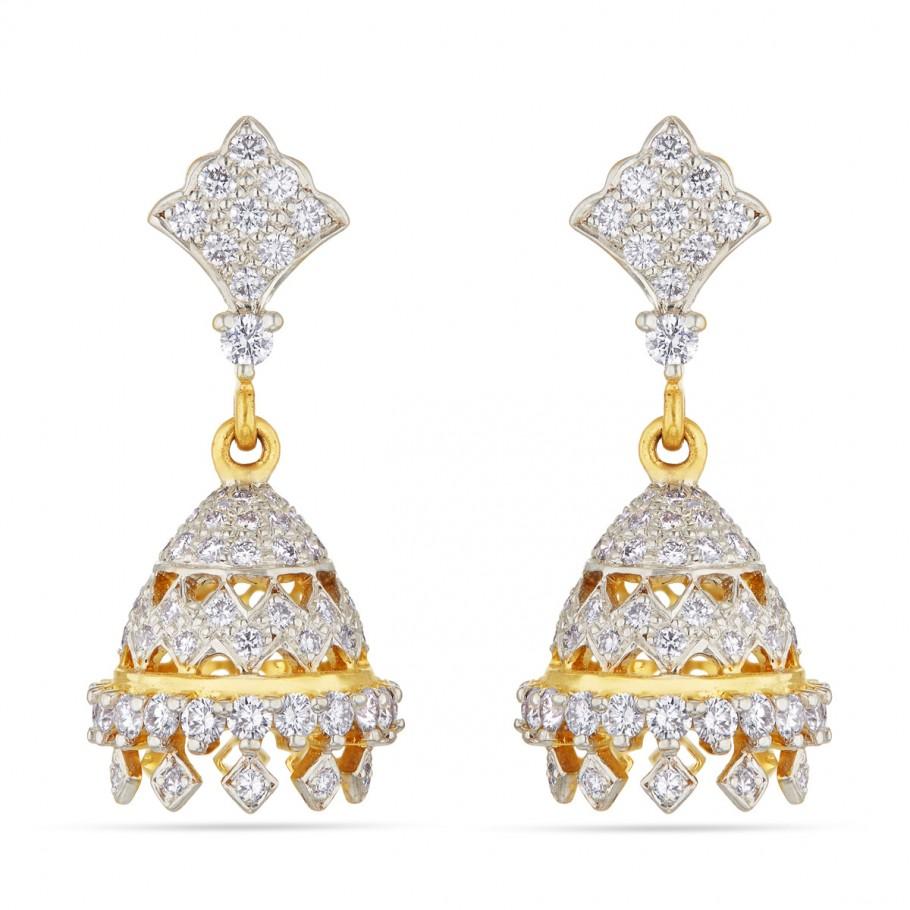 Sparkling Diamond Jhumkis