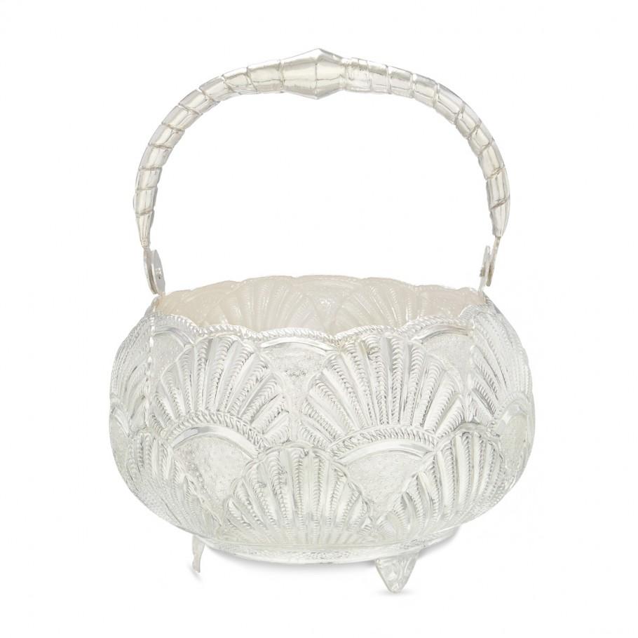 Silver Floral Basket!