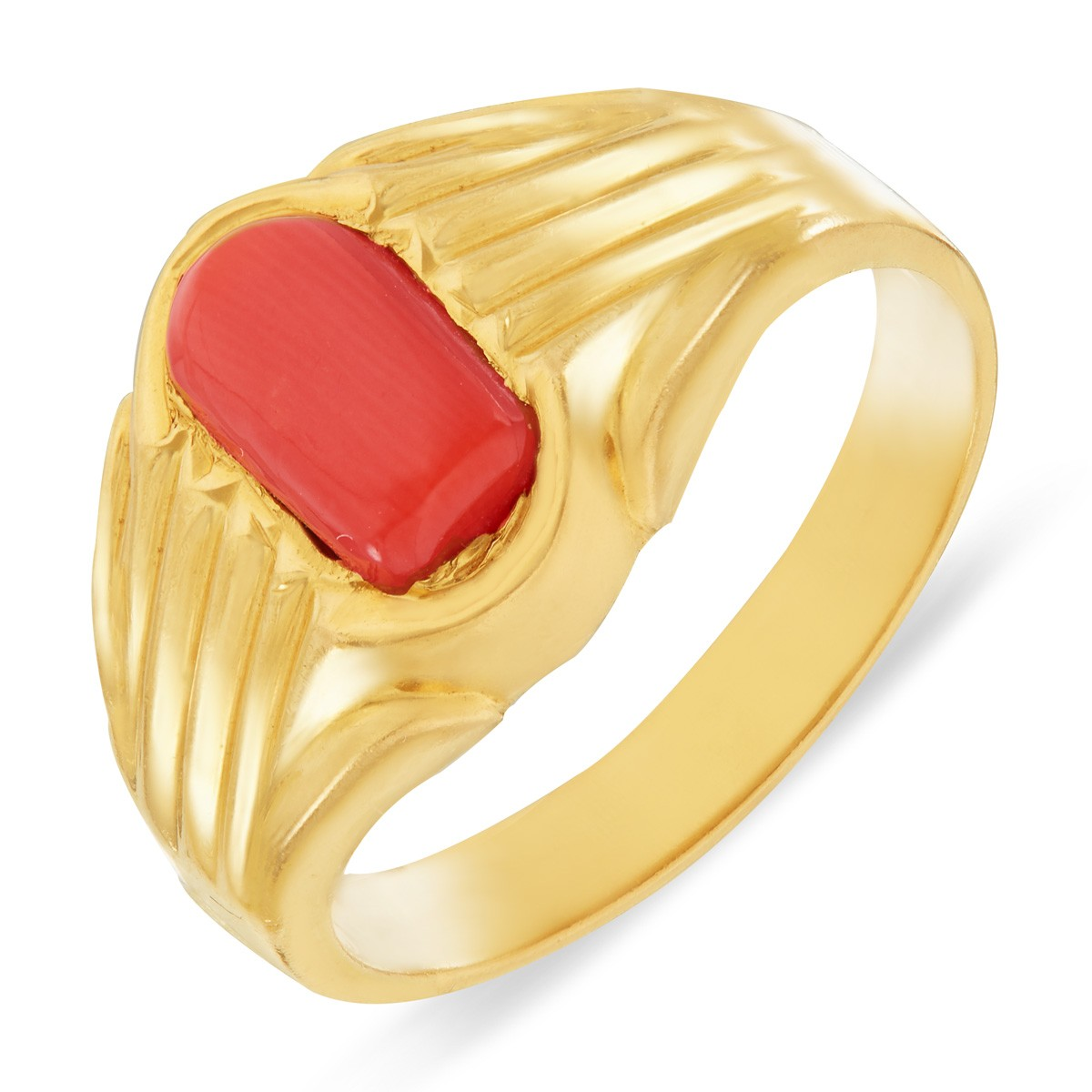 Buy Coral Stone Ring Buy Classic Design Gold Ring Red