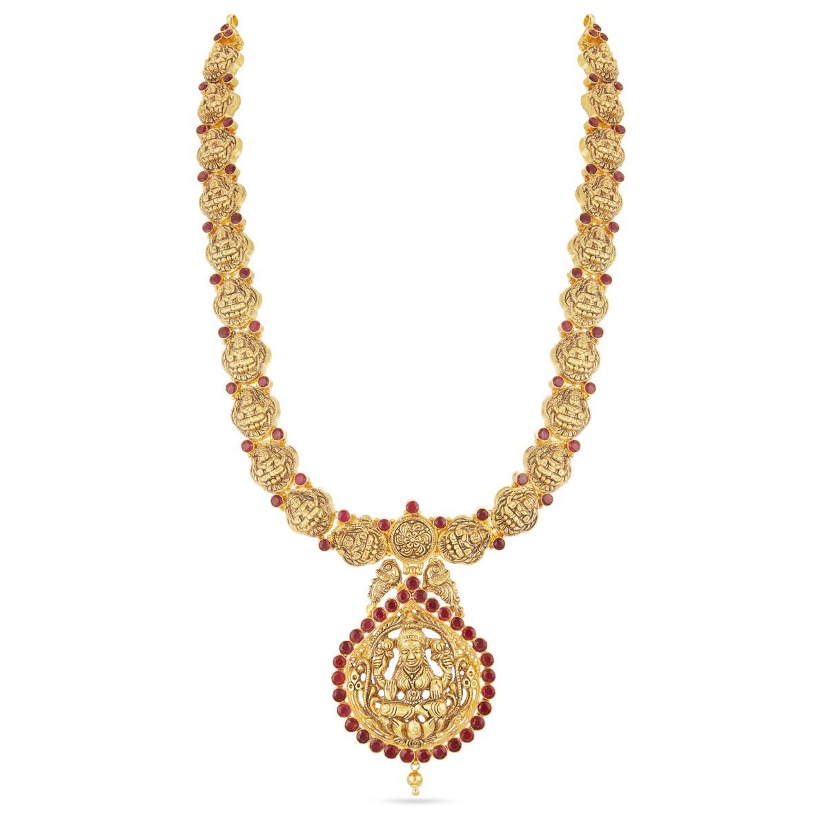 Buy Antique Collection Gold Necklace | Padma Lakshmi Haram Online