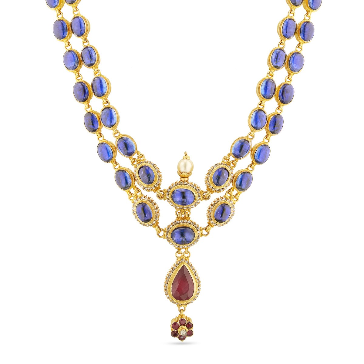 blue sapphire necklaces svtm necklace gold jewellery