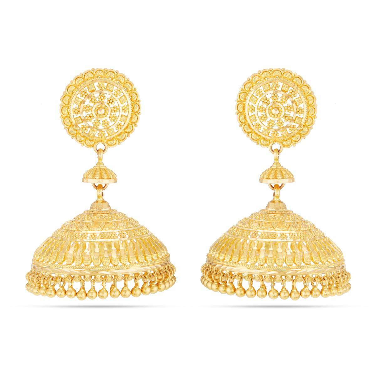 Old Traditional Gold Earring | Gold Jimikis Online | Classic ...