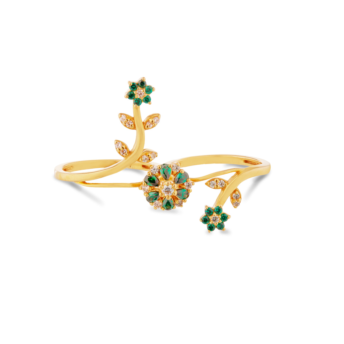 Greeny Floral Ring