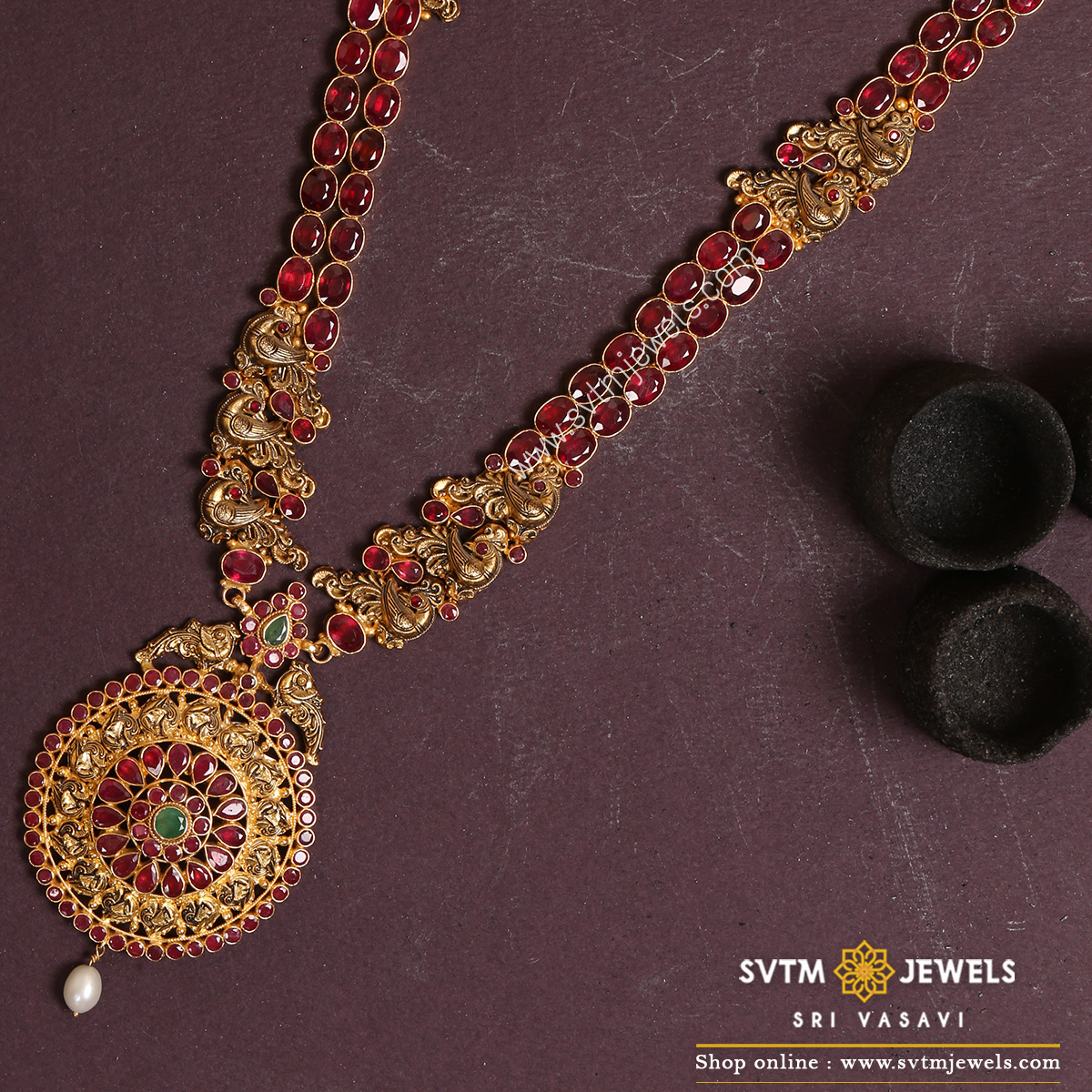 Indian Gold Necklace Online | 22K Gold Necklace Set Online